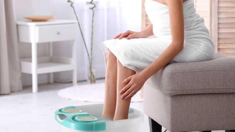 Genieten van het heerlijke warme water en een massage