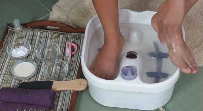 Voetenbad onderhouden