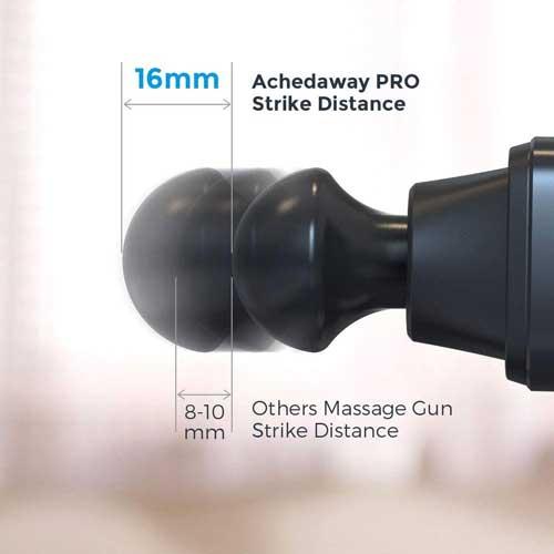 De amplitude van de massage gun