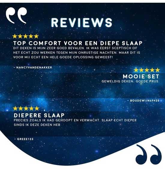 Reviews van het Diley dreams verzwaringsdeken