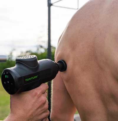 Batterij van het tunturi massage pistool