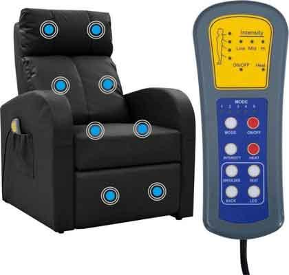 Met een massage stoel kan je stress verminderen.
