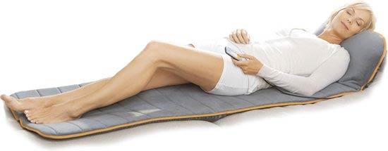 Stress verminderen met een massage kussen.